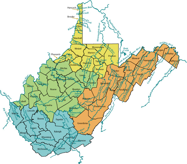 WVriverMAPjpg - West virginia rivers map