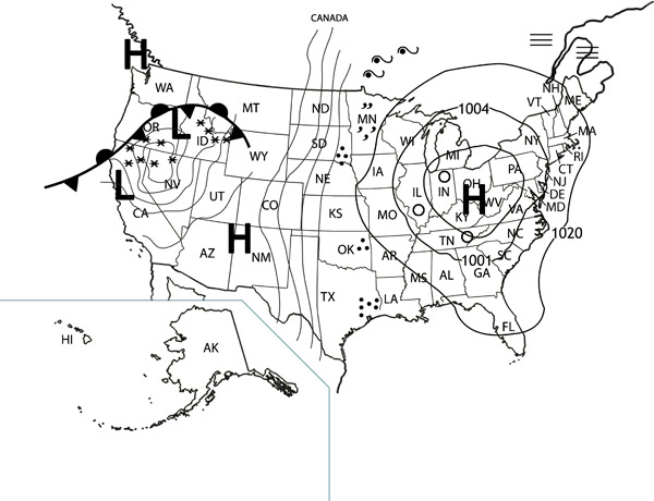 map2webjpg – Reading a Weather Map Worksheet